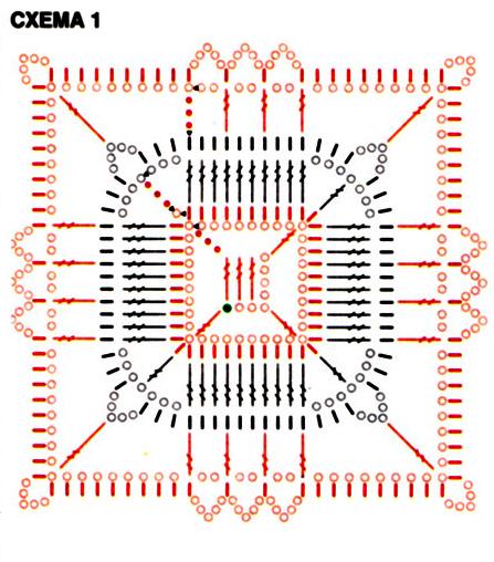 Плотность вязания: квадрат = 7