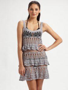 Летнее платье из хлопка (вязание крючком)