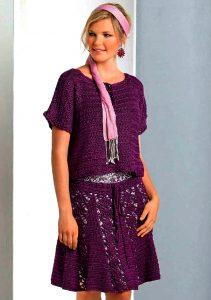 Летняя кофточка и юбка (Вязание крючком)