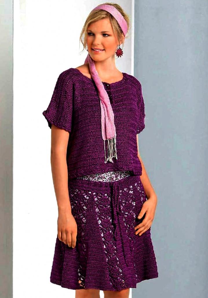 Журнал по вязанию юбки крючок