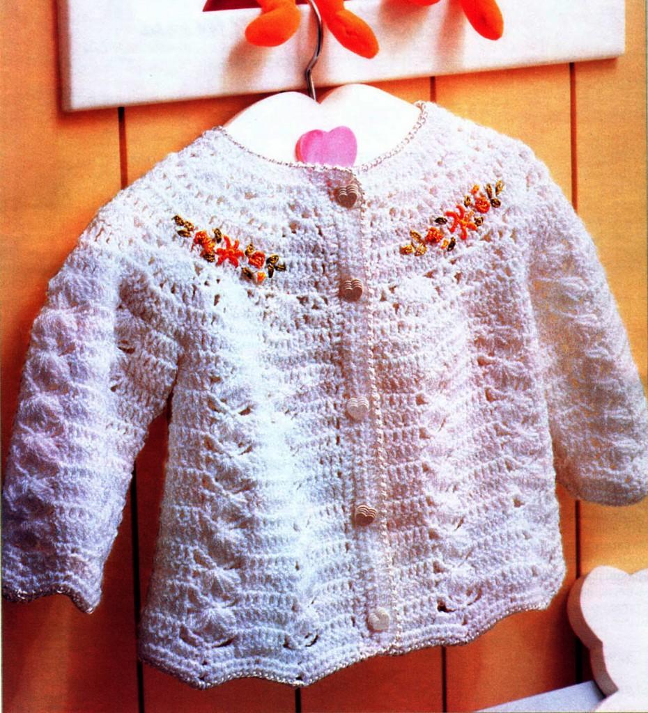 Вязание кофт для девочки мастер класс 73