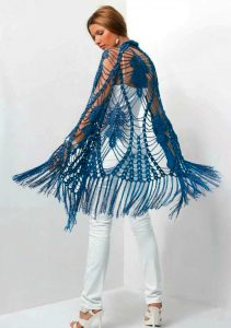 Ажурная шаль (Вязание крючком)