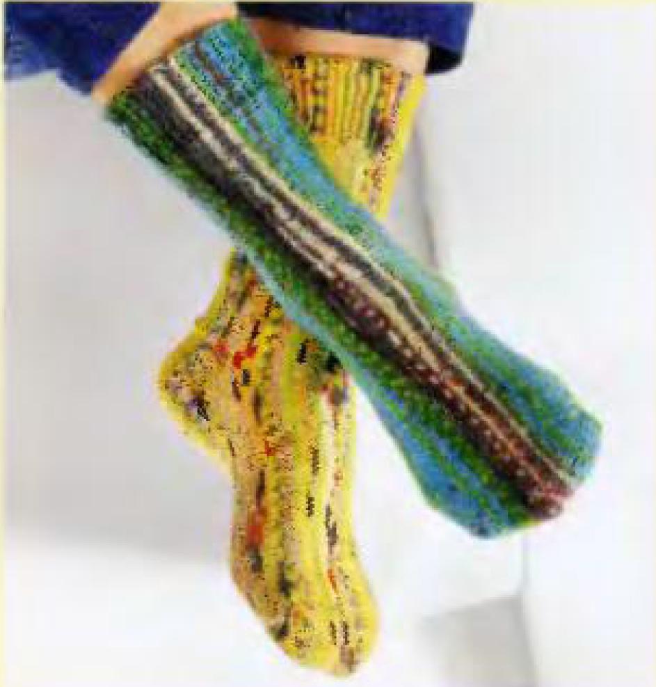 % Суперпростые носки новая техника (Вязание на спицах, мастер класс)