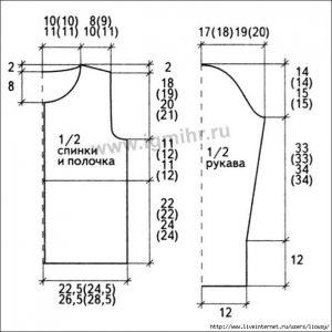 Универсальные выкройки для вязания жакетов и пуловеров (вязание спицами и крючком)