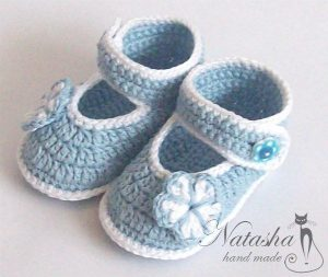 Пинетки-туфельки (Вязание крючком)