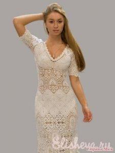 Эффектное платье крючком (Вязание крючком)