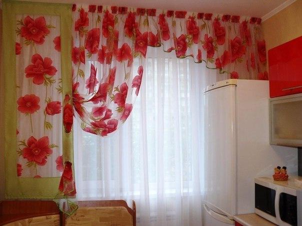 Как сделать шторы в кухне
