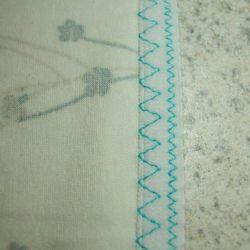 Обработка края трикотажа эластичной тесьмой (резинкой)  (Шитье и крой)