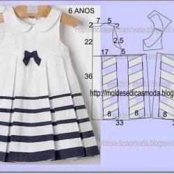 Летние платья для девочек. Простые выкройки (Шитье и крой)