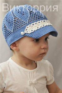 Летняя кепочка для малышей (Вязание крючком)