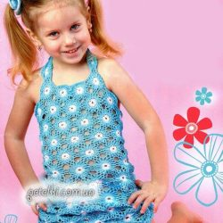 Платьице на девочку 5-6 лет (Вязание крючком)