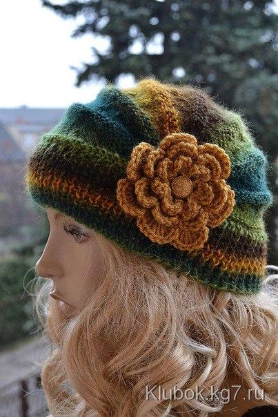 Связать шапку для себя красивой
