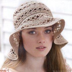 Летняя шляпка (Вязание крючком)