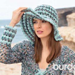 Ажурная шляпка (Вязание крючком)