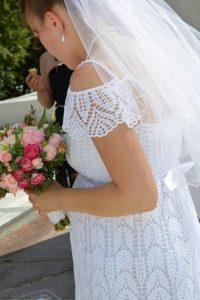 Свадебное платье (Вязание крючком)