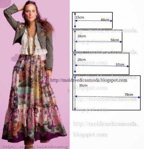 Выкройка длинной юбки (Шитье и крой)