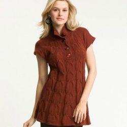 Туника-платье (Вязание спицами)