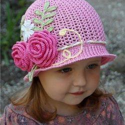 Летние шляпки-панамки для девочек (Вязание крючком)