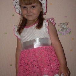 Детское платье (Вязание крючком)