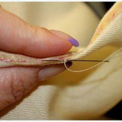 Обработка разреза на тонкой ткани обтачкой из органзы (Шитье и крой)