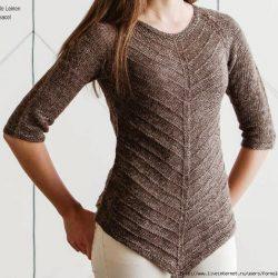 Интересный пуловер (Вязание спицами)