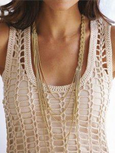 Платье крючком (Вязание крючком)