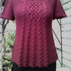 Красивый пуловер (Вязание на спицах)