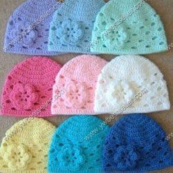 Летняя шапочка для девочки (Вязание крючком)