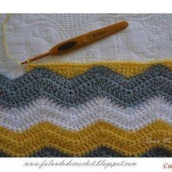 Как перейти с рисунка зигзаг на вязание прямым полотном (Уроки и МК по ВЯЗАНИЮ)