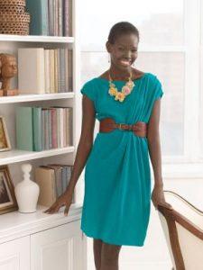 Очень простое платье с драпировкой по плечу (Шитье и крой)