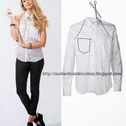 Идеи переделок из рубашки (Шитье и крой)