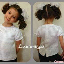 Блуза «Школьница» (Вязание крючком)