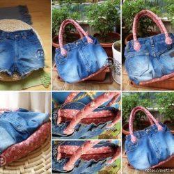 Сумочка из старых джинсовых шорт (Шитье и крой)