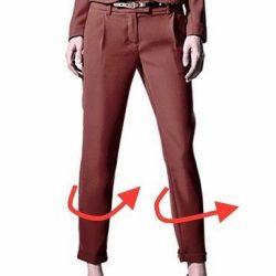 Брюки закручиваются вокруг ноги. Исправление дефектов в брюках. (Шитье и крой)