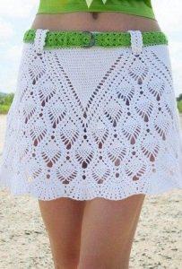 Короткая юбка крючком (Вязание крючком)