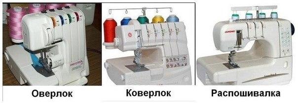 Оверлок, коверлок и плоскошовная машинка. Отличия и возможности. (Шитье и крой)