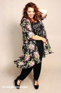 Простой кардиган на основе кимоно для женщин в теле (Шитье и крой)