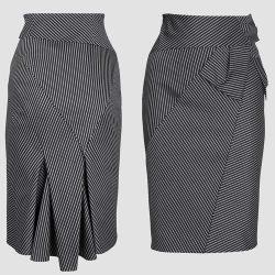 Красивая юбка в полоску от Karen Millen (Шитье и крой)