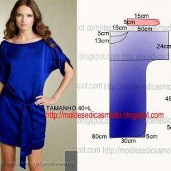 Простая выкройка платья (Шитье и крой)