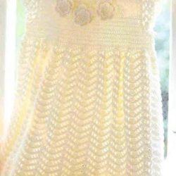 Нежное платье крючком для девочки (Вязание крючком)