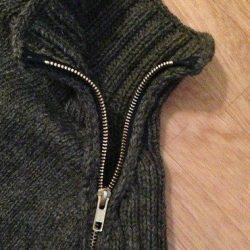 Как вшить молнию в вязаную кофту (Шитье, вязание)