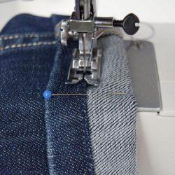 Как подшить джинсы, оставив производственные потертости (Шитье и крой)