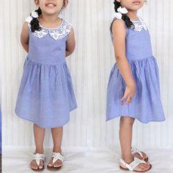 Идея детского платья из папиной рубашки (Шитье и крой)