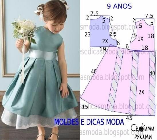 Сшить платье для девочки 7 лет своими руками с выкройками