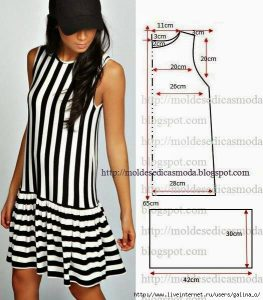 Выкройка платья с заниженной талией (Шитье и крой)