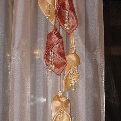 Цветы каллы из ткани для украшения штор (Шитье и крой)