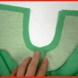 Обработка цельнокроеными обтачками горловины и пройм платья (Шитье и крой)