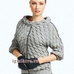 Элегантный пуловер (Вязание спицами)