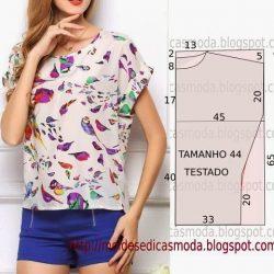 Блуза со спущенным плечом (Шитье и крой)