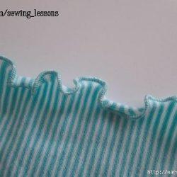 Волнистый край на трикотажной ткани (Шитье и крой)